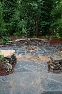 View of Staircase to Communal Fire-pit from Observation Deck