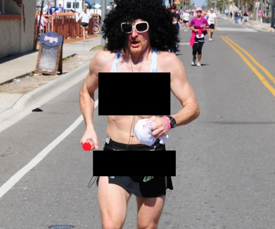 Run in a tutu and bra