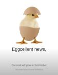 Eggcellent news.