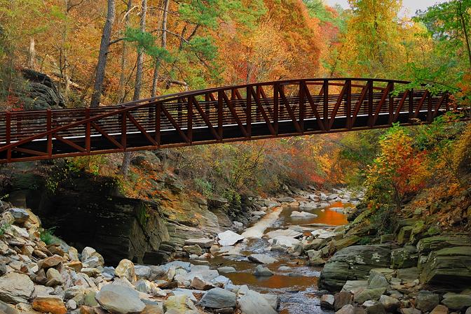 Bridge across Rottenwood Creek along the Bob Callan PATH trail